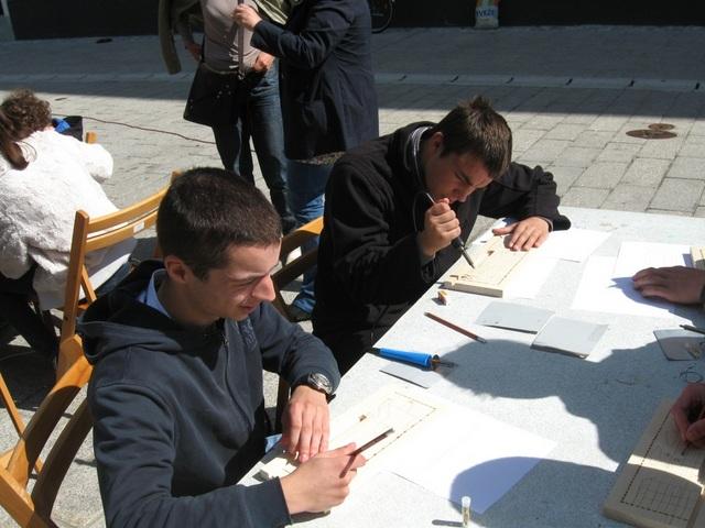 Šolsko leto 2011/2012: Slikanje panjskih končnic v Radovljici