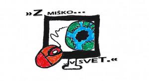 logotip Z miško v svet