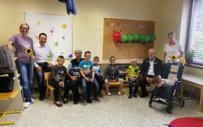 Obisk župana na prvi šolski dan
